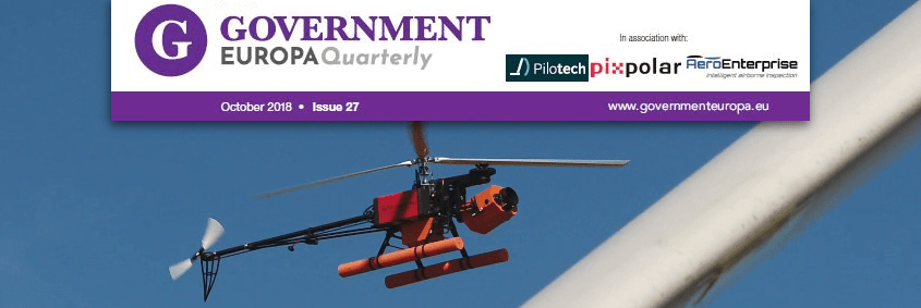 Government Europa Magazine Inspection Drone Windturbine